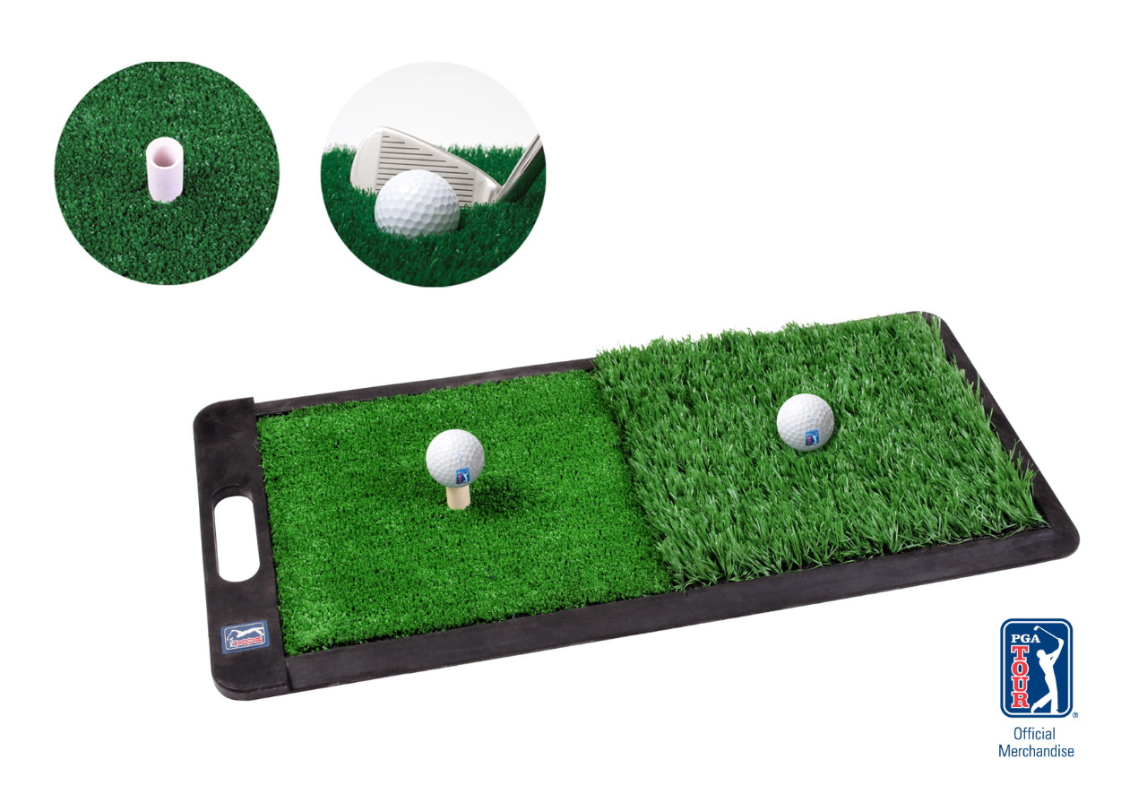 Pga Tour Golf 2 In 1 Practice Mat Driving Chipping Turf